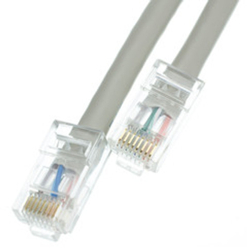 Cat5e Gray Ethernet Patch Cable, Bootless, 100 foot