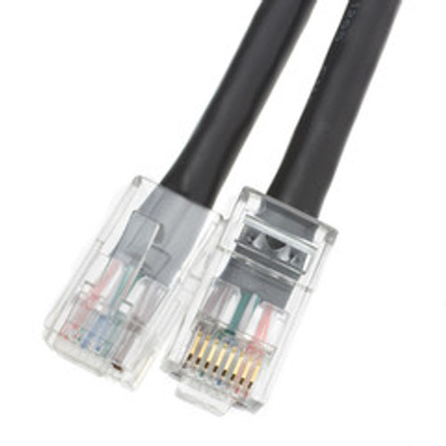Cat6 Black Ethernet Patch Cable, Bootless, 2 foot