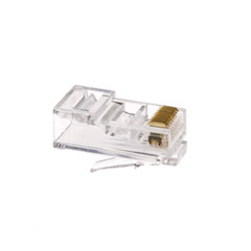 Cat6 RJ45 Crimp Connectors for Solid and Stranded Cable, 8P8C, 100 Pieces