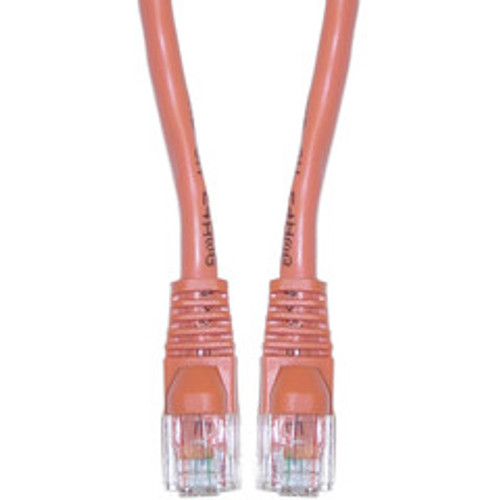 Cat5e Orange Ethernet Crossover Cable, Snagless/Molded Boot, 75 foot