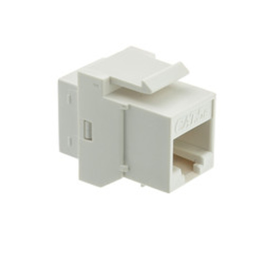 Cat5e Keystone Inline Coupler, White, RJ45 Female