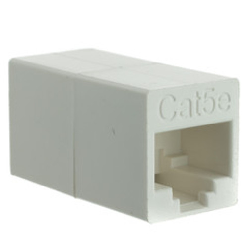Cat5e Crossover Coupler, White, RJ45 Female, Unshielded