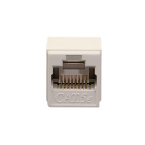 Unshielded Cat5e Coupler, White, RJ45 Female