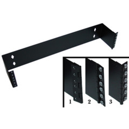 Rackmount Hinged Wall Mounting Bracket, 2U, Dimensions: 3.5 (H) x 19 (W) x 5.8 (D) inches