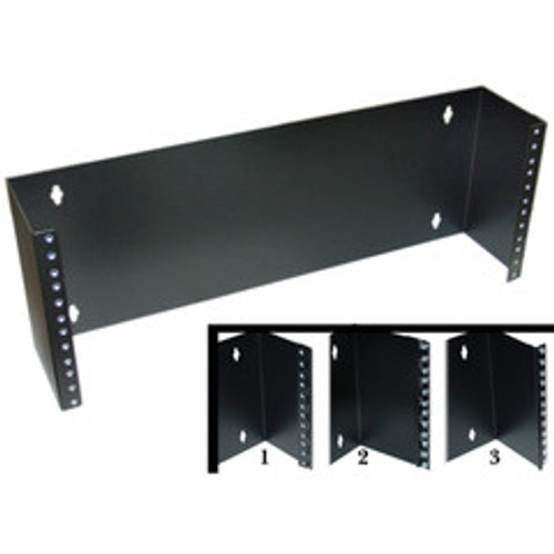 Rackmount Hinged Wall Mounting Bracket, 4U, Dimensions: 7 (H) x 19 (W) x 5.8 (D) inches. Includes 24 rack screws(10-32)