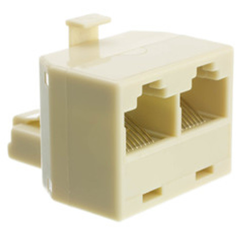 Phone Splitter (Straight), RJ45 8P8C Male to 2 RJ45 8P8C Female
