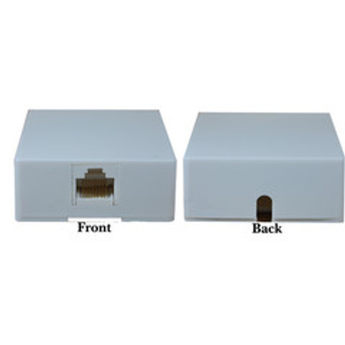 Phone Surface Mount Jack, White, RJ45, Data / Voice, 8P8C (8 Pin 8 Conductor), Voice Only