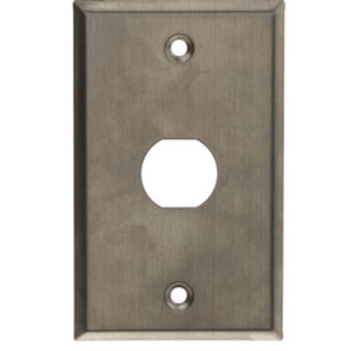 Outdoor Wall Plate w/ Water Seal, Stainless Steel , 1 Port, Single Gang