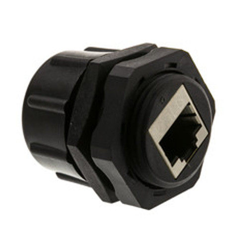 Shielded Outdoor Waterproof Cat6 Coupler, RJ45 Female to Female, With Cap, Wall Plate Mount