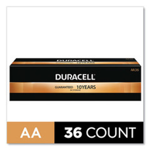 Duracell CopperTop Alkaline AA Batteries, 36/Pack