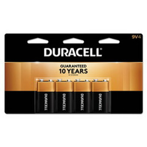 Duracell CopperTop Alkaline Batteries, 9V, MN16RT4Z, 4/pk