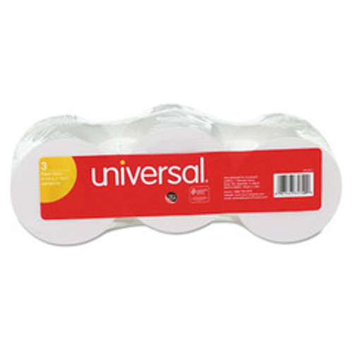 Universal Impact/Inkjet Print Bond Paper Rolls, 1/2 inch Core, 2 1/4 inches wide x 150 feet long, White, 3/pack - UNV35720
