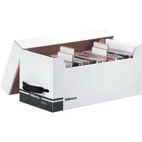 Fellowes Corrugated Media File, Holds 125 Diskettes/35 Std Cases