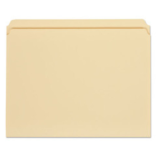 Universal File Folders, 1/3 Cut Assorted, One-Ply Top Tab, Letter, Manila, 100/Box - UNV12113