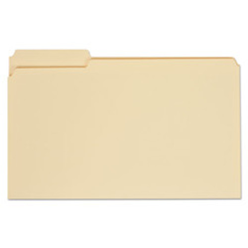 Universal File Folders, Straight Cut, One-Ply Top Tab, Letter, Manila, 100/Box - UNV12110