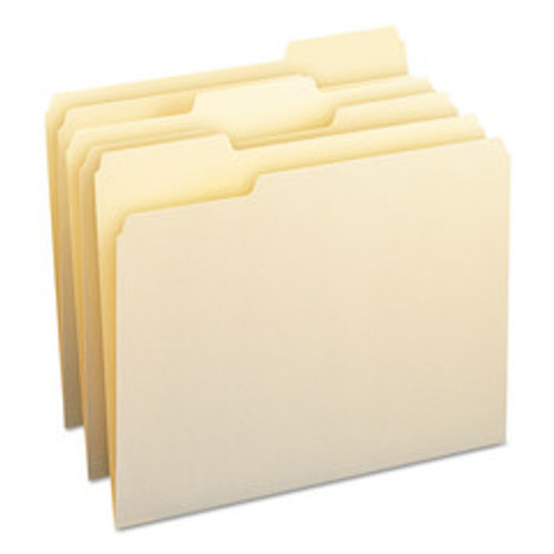 Smead File Folders, 1/3 Cut Assorted, One-Ply Top Tab, Letter, Manila, 100/Box - SMD10330
