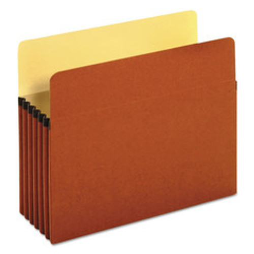 Universal 5.25 inch Expansion File Pockets, Straight Tab, Letter, Redrope/Manila, 10/Box - UNV15262