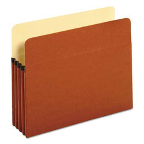Universal 3.5 inch Expansion File Pockets, Straight Tab, Letter, Redrope/Manila, 25/Box - UNV15343