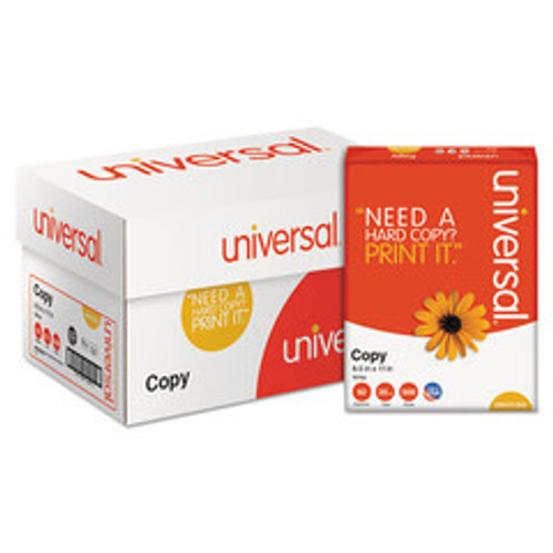 Universal Copy Paper, 92 Brightness, 20lb, 8-1/2 x 11, White, 5000 Sheets/Carton - UNV21200
