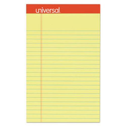 Universal Perforated Ruled Writing Pad, Narrow Rule, 5 x 8, Canary, 50 Sheet, 12/pack - UNV46200