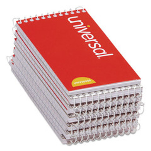 Universal Wirebound Memo Books, Top Bound, Narrow Rule, 5 x 3, 50 Sheets, 12/Pack - UNV20435