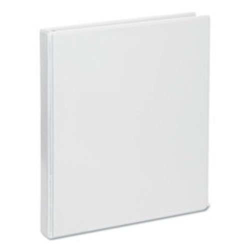 Universal Deluxe Round Ring View Binder, 1/2 inch Capacity, White - UNV20702