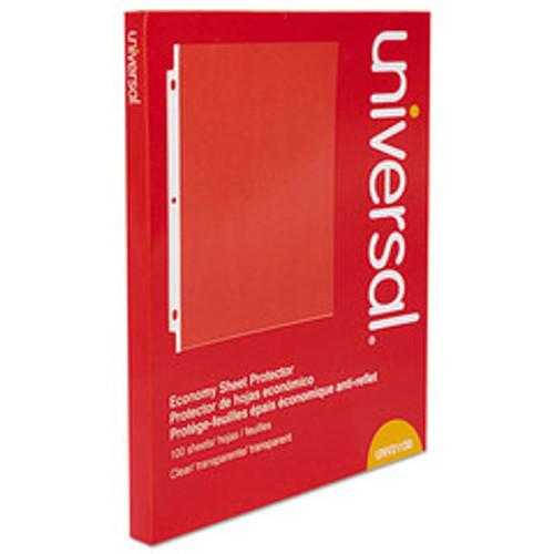 Universal Top-Load Poly Sheet Protectors, Economy, Letter, 100/Box - UNV21130