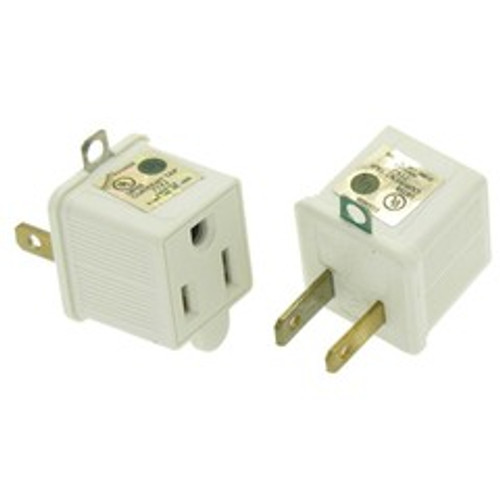 3 Prong to 2 Prong Grounding Converter for AC Outlet, 2-pack