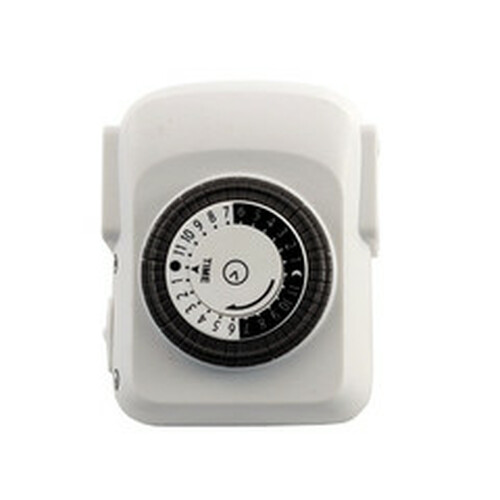 Mechanical Timer 24 Hour with Single 3-Prong Outlet - UL Rated