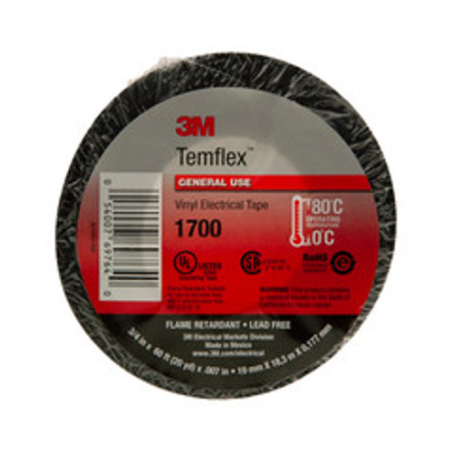 3M Economy Electrical Tape, .75inch x 60ft (Single)