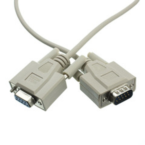 Null Modem Cable, DB9 Male to DB9 Female,  8 Conductor, 10 foot