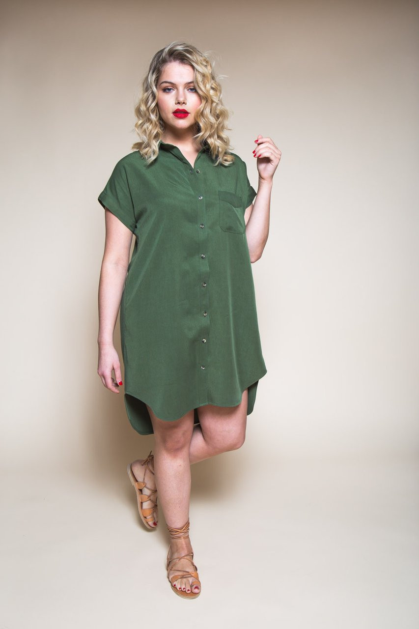 11b7f9e546 Closet Case Patterns Kalle Shirt   Shirtdress Fabric Godmother