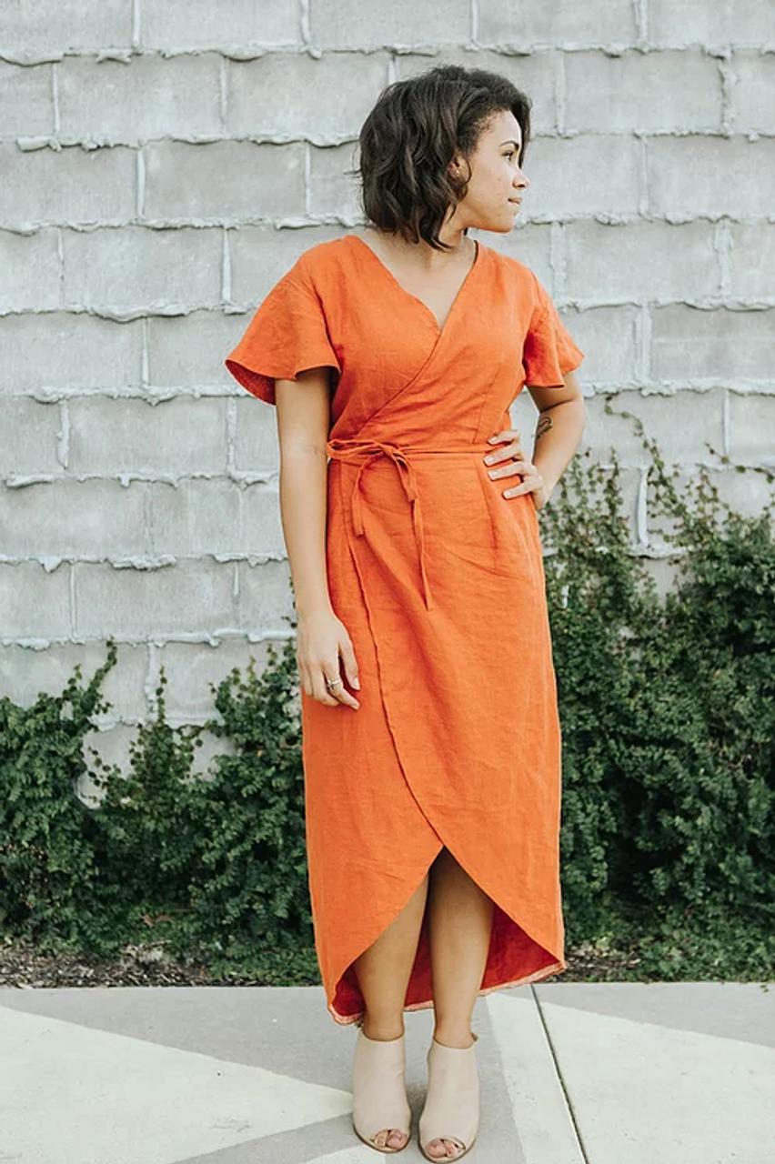 Sew To Grow CharliAnne Wrap Dress PDF (Intermediate)