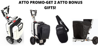 ATTO Portable Mobility Travel Scooter by Moving Life-New Weight Capacity of 265 lbs!  Atto Bonus Bundle Gifts  (Up to $200 Value!)