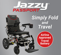 JAZZY PASSPORT Fold and Go Portable Power Chair-New!