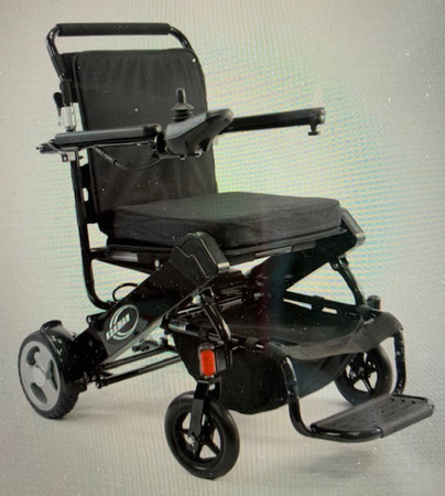 2021New HD Karman Tranzit Go Foldable Power Chair-Luggage Carrier Size! Standard with 2 Lithium Batteries-Up to 400 lb Weight Capacity.
