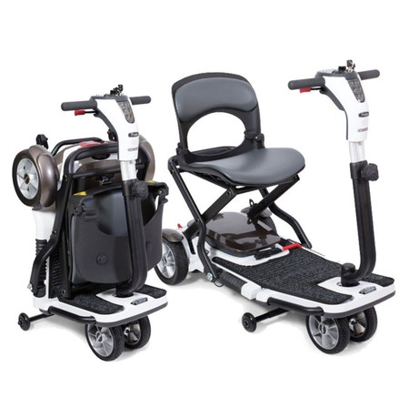 Go Go Folding 4 Wheel Portable Travel Scooter-Your Choice Bonus: $100 OFF OR  FREE ARMRESTS