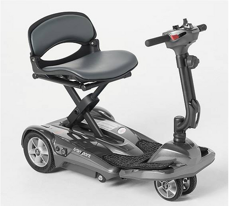 The New 2021 EV Rider Transport Deluxe AF+ 4 Wheel Auto Folding Scooter- Take Additional $100 Off.