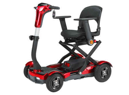 EV Rider TEQNO DEMO-OPEN BOX 4 Wheel Aeruto Folding Scooter Bundle w/ Laser LIghting Package  & Remote Opated! Includes Set of Armrests-Save Hundreds!
