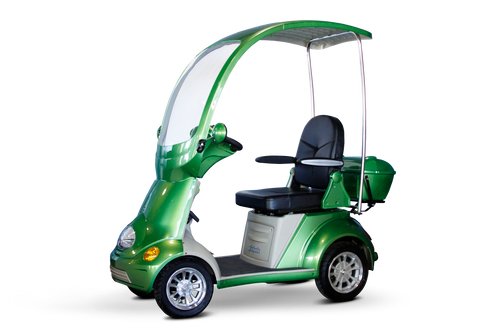 EW54 COUPE-SLEEK 4 WHEEL DELUXE SCOOTER W-HARD CANOPY-UP TO 500 LB CAPACITY