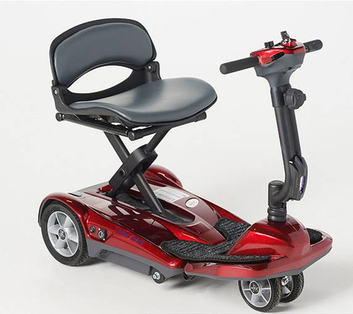 The New EV Rider Transport Deluxe AF+ Dual Front Wheels Auto Folding Scooter-COLUMBUS DAY SALE