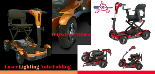 EV Rider TEQNO S26 Auto Folding  Rugged Scooter--HUGE SALE!