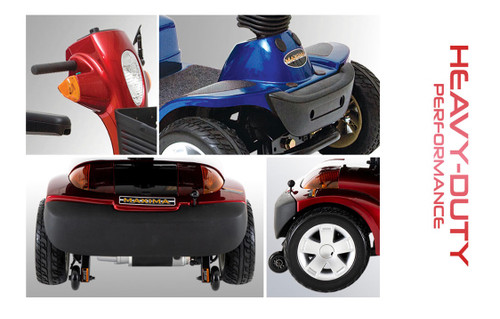 Ultra  4-Wheel HD Maxima Mobility Scooter-Up to 500 lb Weight Capacity!