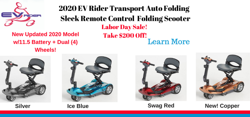 Evrider Transport Auto Fold Scooter-Labor Day-SEPT Sale. Take $100 Off