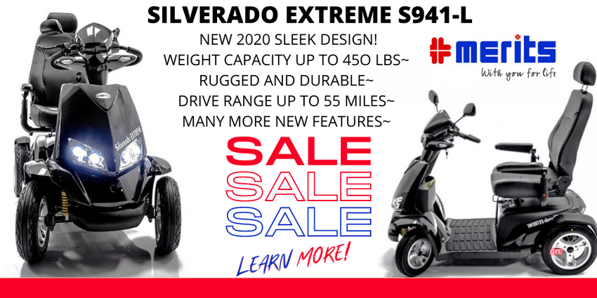 The New S941L Silverado Extreme 4-Wheel Full Suspension Electric Scooter-Huge Sale