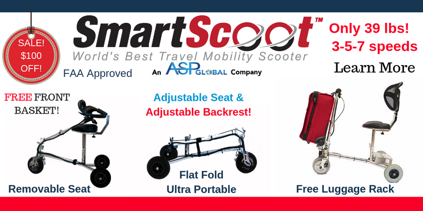 Smart Scoot Travel Scooter Sale-Take $100 Off +4 Free Accessories
