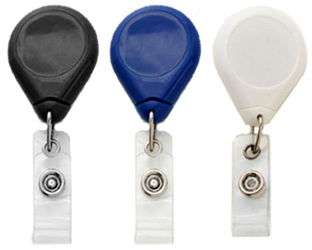 Premium Badge Reels w/ Strap & Slide Belt Clip (100)