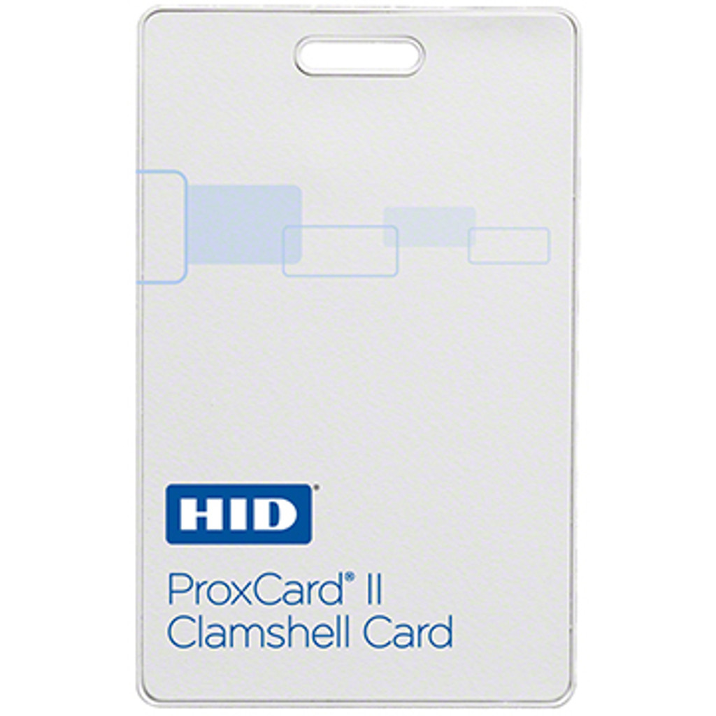 HID ProxCard II 1326LSSMV, 100 Cards, Clamshell Cards Format H10301