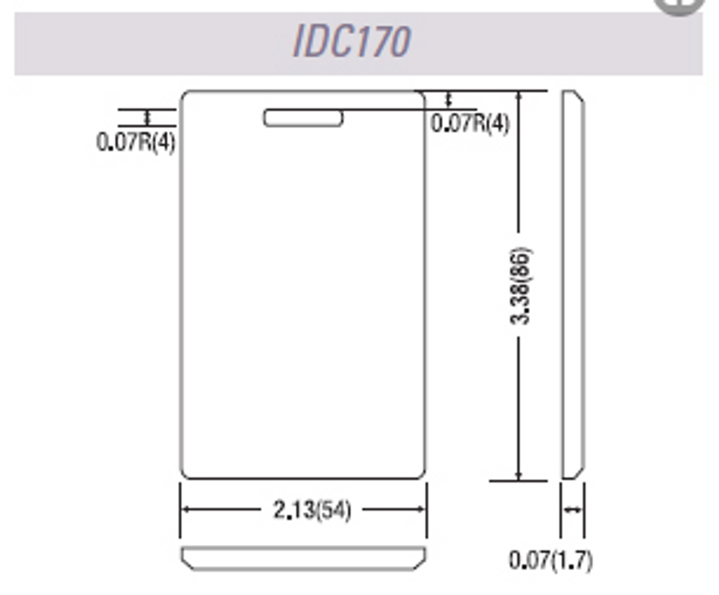 IDTECK® IDC170 Clamshell Card (50 Cards)