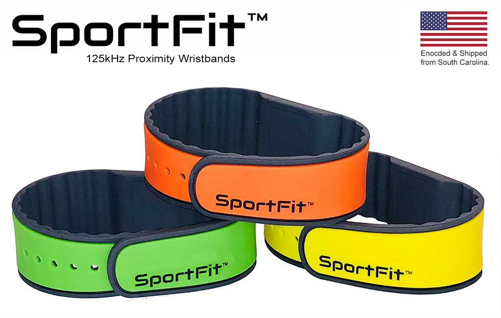 RapidPROX® SportFit™ for Indala® 125kHz Proximity Technology, Adjustable,  Contactless & Touch-Free (100 Bands)
